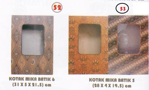 Kotak mika batik